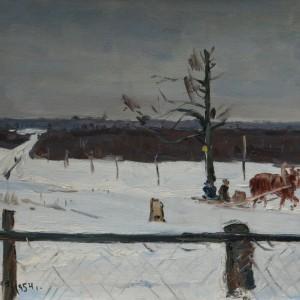 11 Борисенков Воз-1584 Борисенков Зима 1954г 27х39 к.м