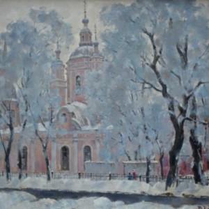 13 Боровик андреевский собор в морозный день