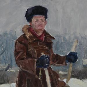 16 Воз-1452 Борисенков Этюд 1959г 48х33 к.м