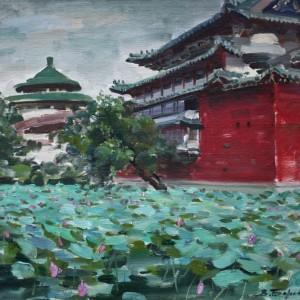 9 Боровик пруд с цветущими лотосами