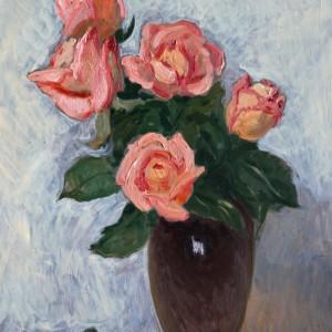 3 Рубан натюрморт с розами