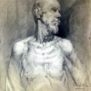 21 Чеботарь рисунок головы с плечевым поясом