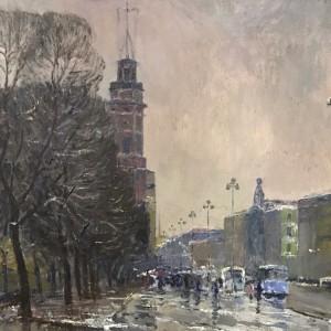 Мокрый Невский. 1969. Х., м. 60х80